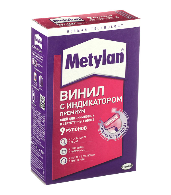 Клей для виниловых обоев Metylan Винил с индикатором Премиум 300 г