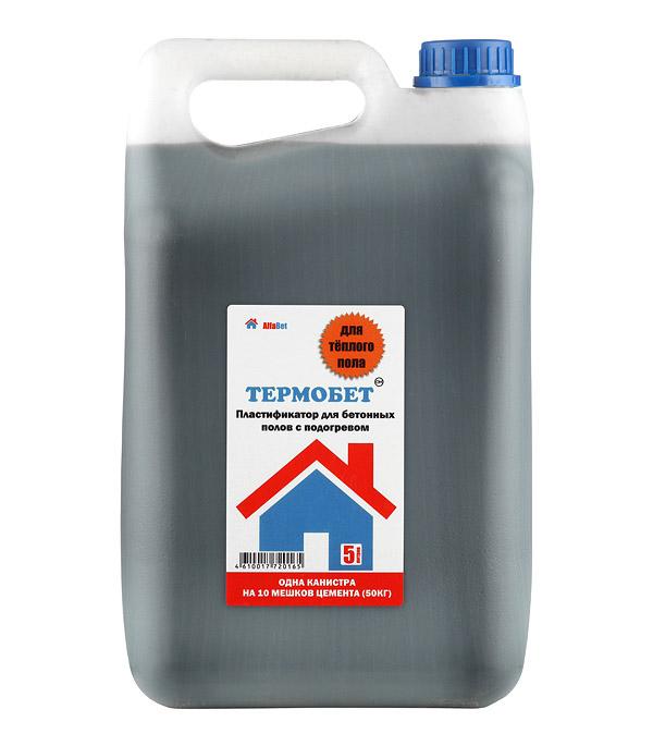 цена на Пластификатор для бетона АльфаБетон Термобетон 5 л