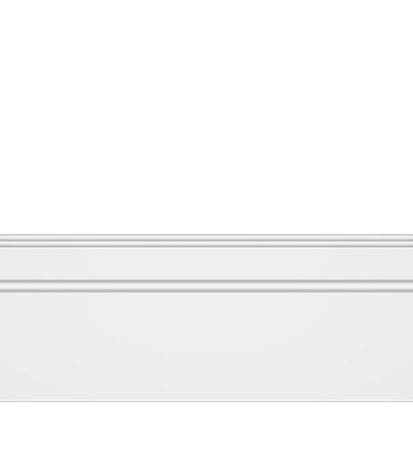 Плинтус (молдинг) из дюрополимера ударопрочный с к/к 107х12х2000 мм Decomaster белый молдинг decomaster decomaster цвет белый 66х16х2000 мм a022