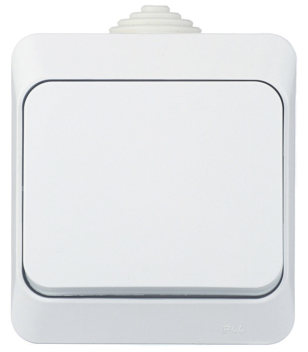 Выключатель одноклавишный о/у IP 44 Schneider Electric Этюд белый выключатель schneider electric этюд bpa16 242b цвет белый