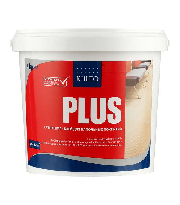 цена на Клей для напольных покрытий Kiilto Plus 4 кг