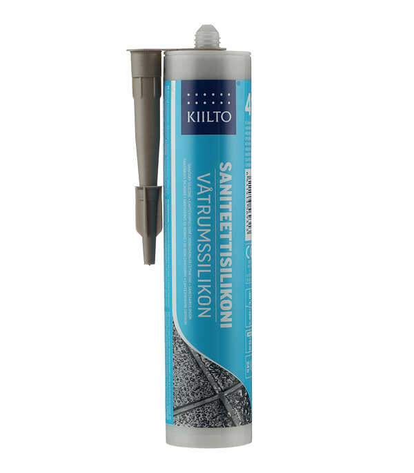 Герметик силиконовый санитарный Kiilto № 41 средне-серый 310 мл