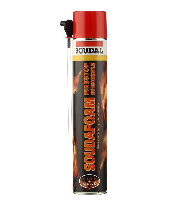 Пена монтажная Soudal Soudafoam Firestop огнестойкая 750 мл