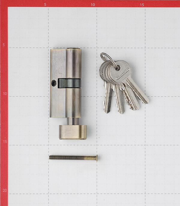 Цилиндр Palladium AL 70 T01 AB 70 (35х35) мм ключ-вертушка античная бронза