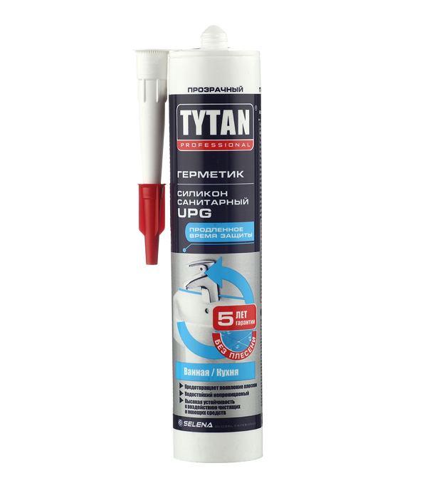 Герметик силиконовый санитарный Tytan UPG прозрачный 310 мл фото