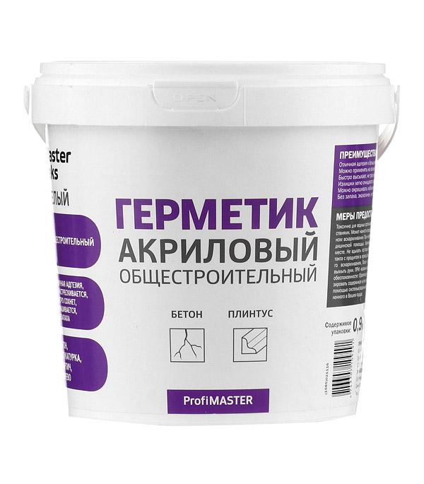 цены Герметик акриловый MasterTeks ProfiMaster белый 900 мл