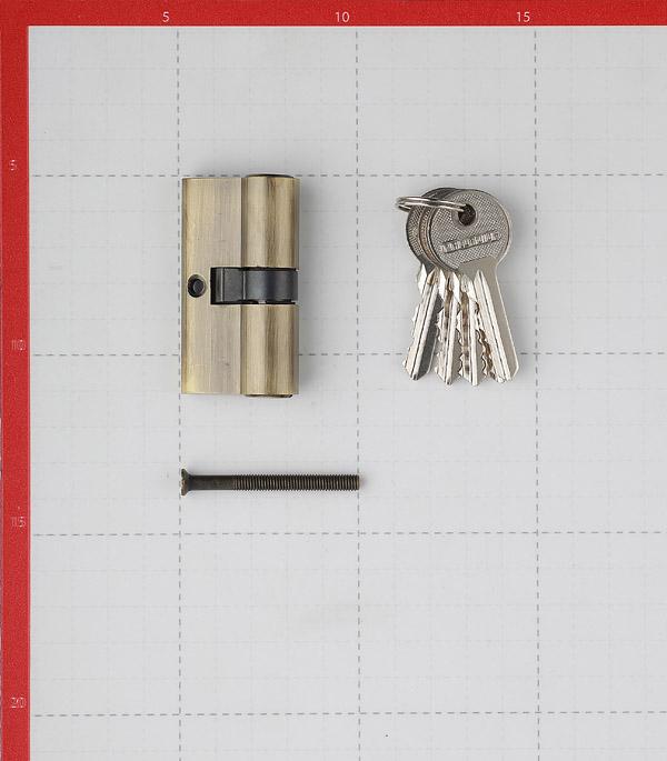 Цилиндр Palladium AL 60 AB 60 (30х30) мм ключ/ключ античная бронза