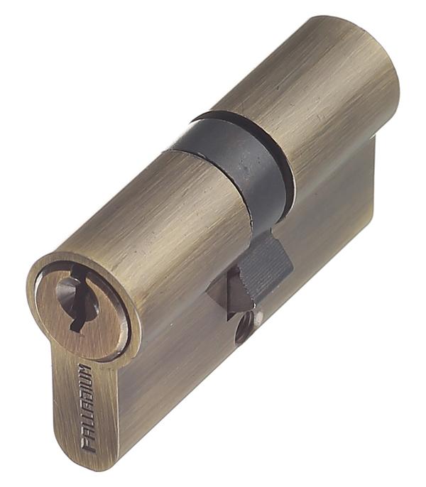 Цилиндр Palladium AL 60 AB 60 (30х30) мм ключ/ключ античная бронза цилиндровый механизм palladium al 60 c t01 ab антик бронза