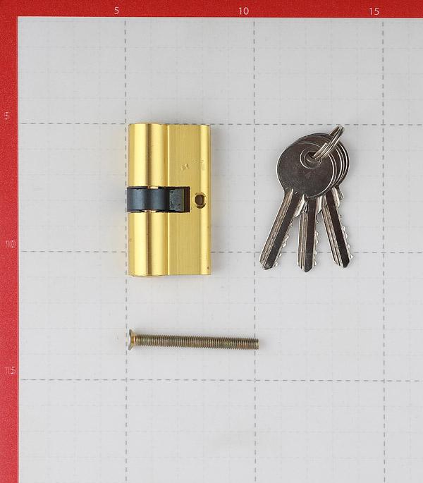 Цилиндр ФЗ E AL 60 PB 60 (30х30) мм ключ/ключ латунь