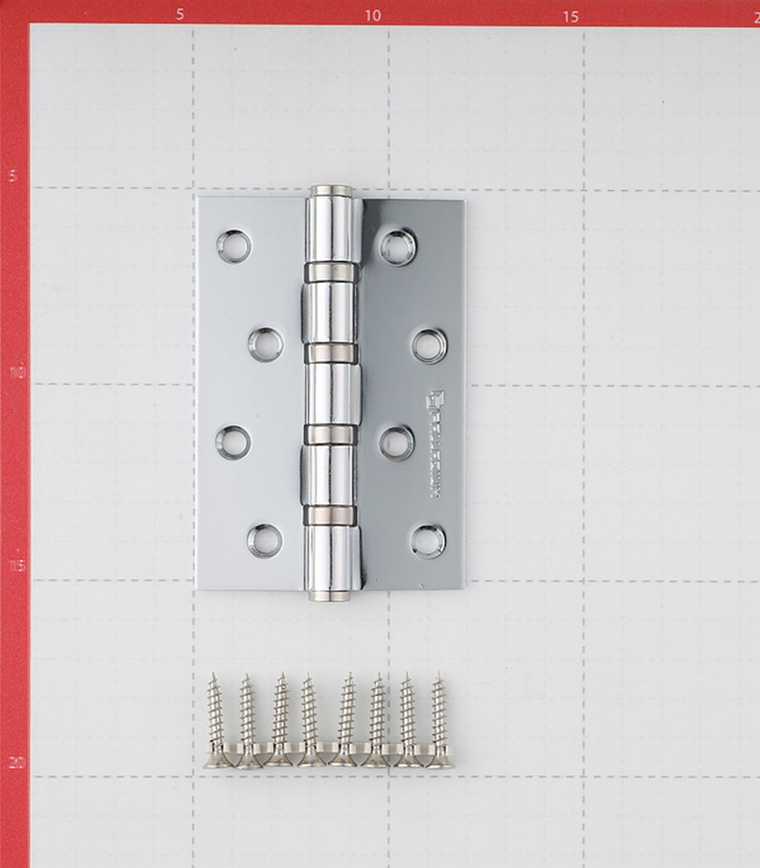 Петля Palladium N 4BB-100 CP универсальная неразъемная 100х75 мм серебро