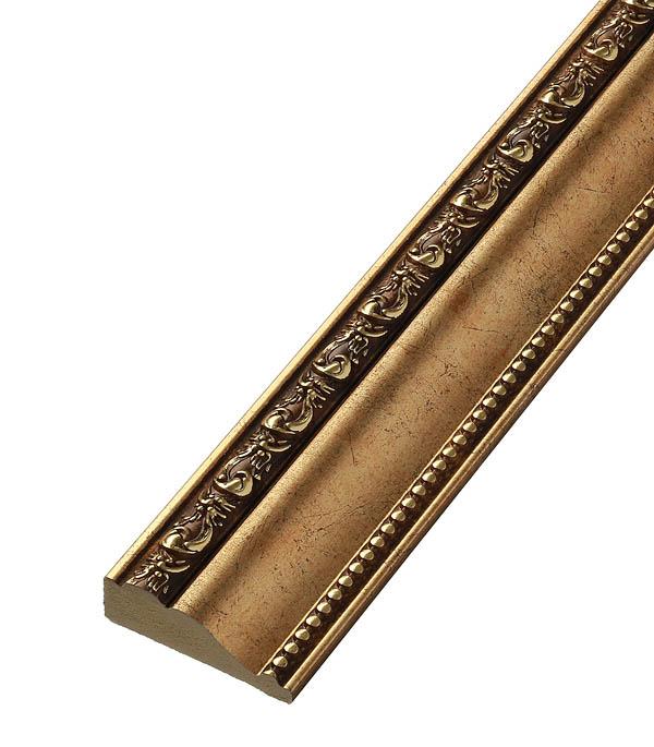 Плинтус (молдинг) из полистирола 60х22х2400 мм Decomaster античное золото цена в Москве и Питере