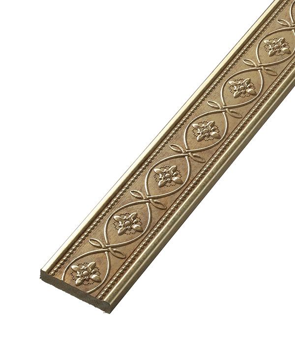 Плинтус (молдинг) из полистирола 50х11х2400 мм Decomaster матовое золото стоимость