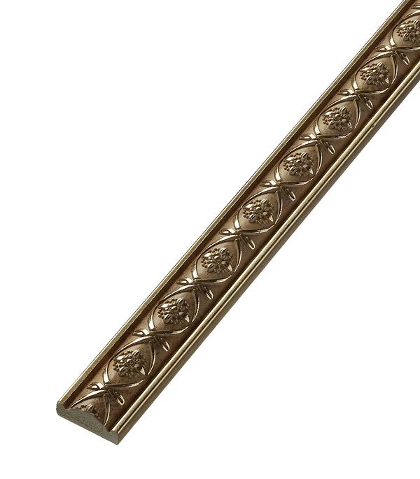 Плинтус (молдинг) из полистирола 30х14х2400 мм Decomaster матовое золото стоимость