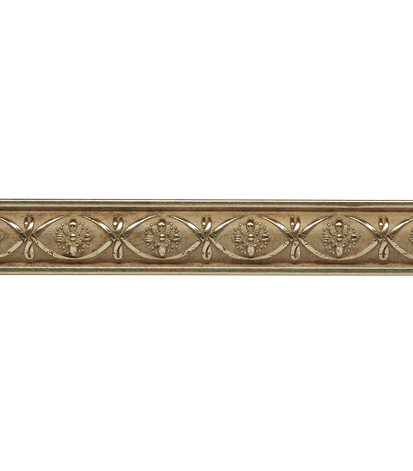 Плинтус (молдинг) из полистирола 30х14х2400 мм Decomaster матовое золото.