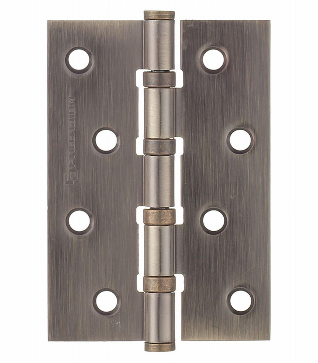 Петля Palladium N 4BB-100 AB универсальная неразъемная 100х75x2 мм бронза петля дверная palladium 2вв 100 универсальная 2 подшипника цвет античная бронза длина 10 см