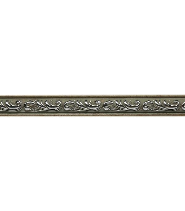 Плинтус (молдинг) из полистирола 30х14х2400 мм Decomaster бук с платиной.