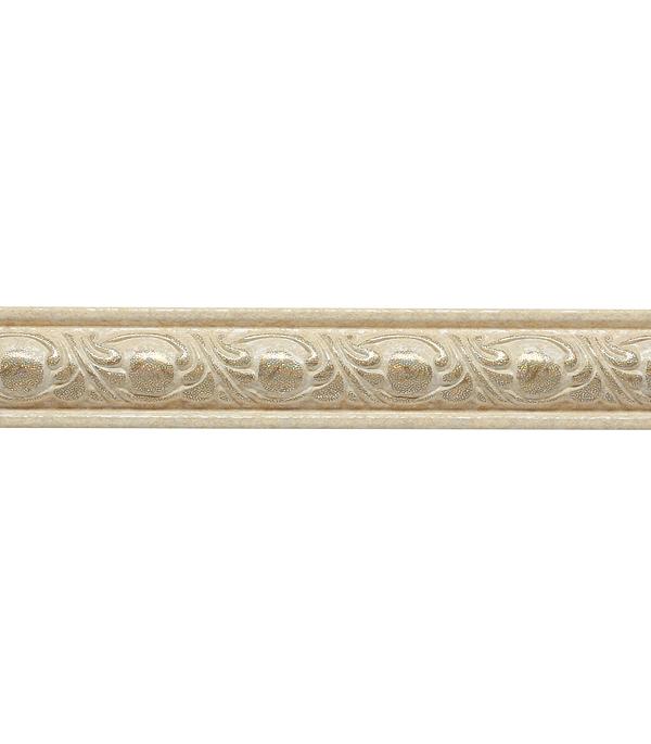 Плинтус (молдинг) из полистирола 30х14х2400 мм Decomaster бежевая патина.