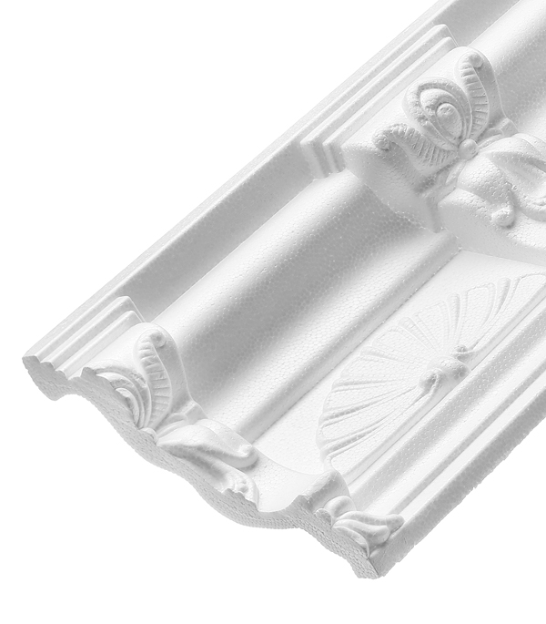 Плинтус из пенополистирола 124х94х2000 мм Solid резной C657/155 материалы для стен и потолка