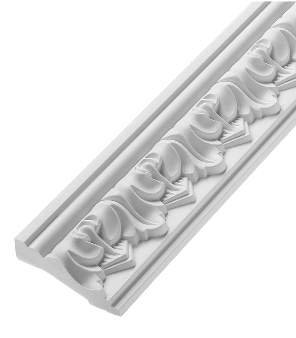 Плинтус из полиуретана 70х30х2400 мм Decomaster материалы для стен и потолка