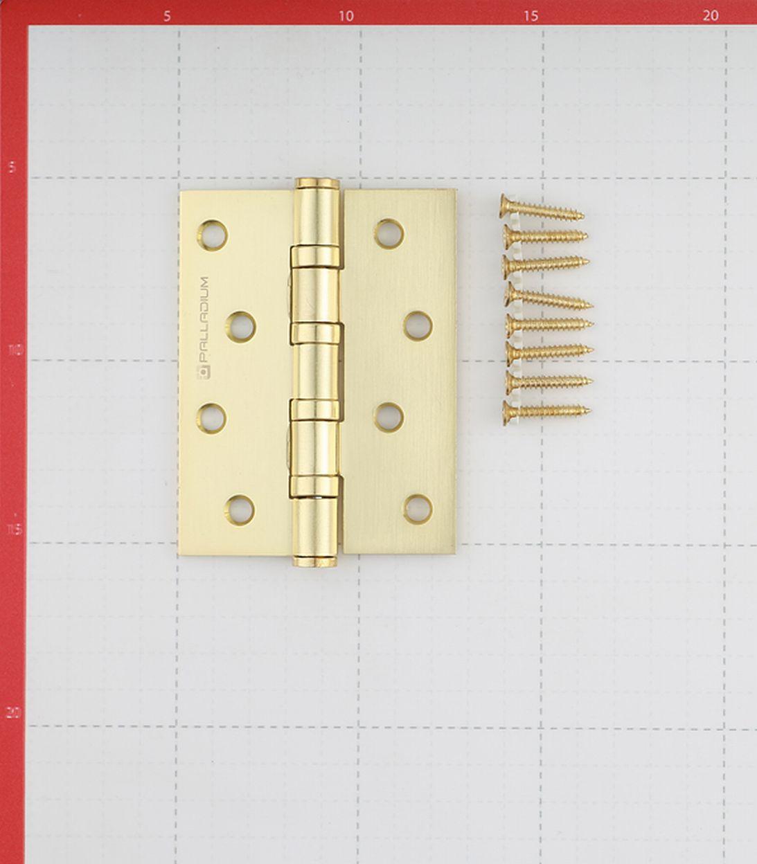 Петля Palladium N 4BB-100 SB универсальная неразъемная 100х75 мм латунь