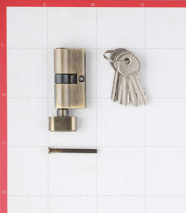 Цилиндр Palladium AL 60 T01 AB 60 (30х30) мм ключ-вертушка античная бронза