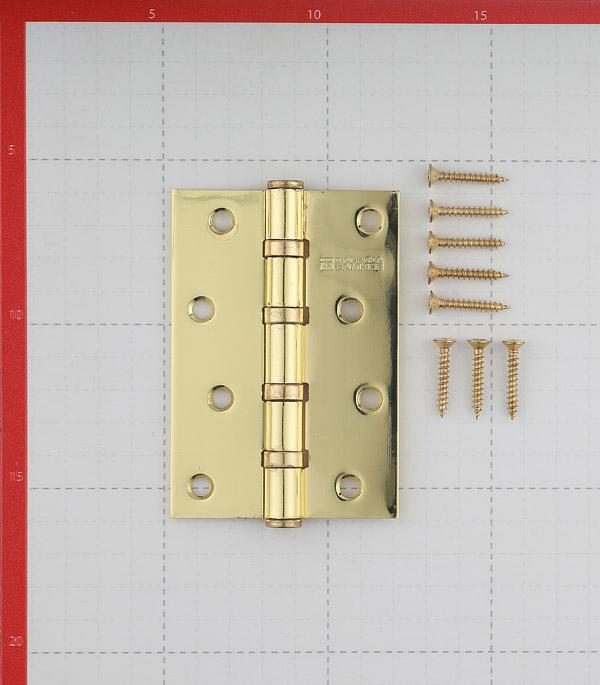 Петля ФЗ Е-100 PB универсальная неразъемная 100х75 мм латунь