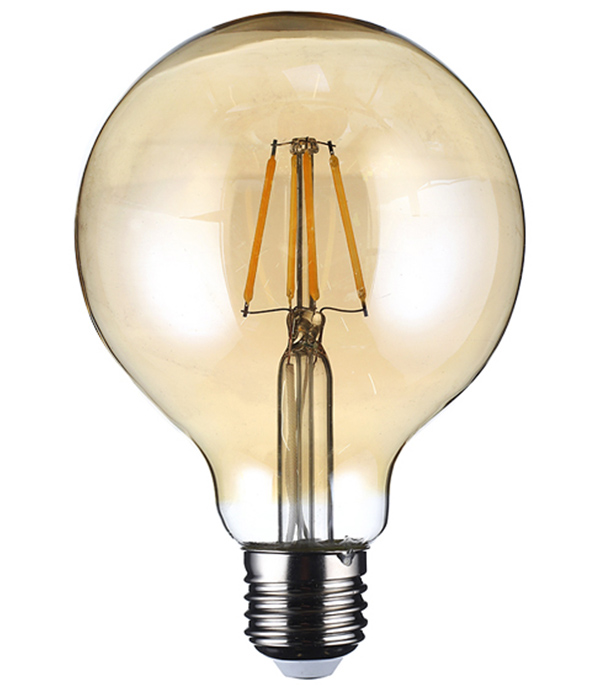 Лампа светодиодная REV 7 Вт E27 филаментная шар G95 2700 К теплый свет 230 В прозрачная лампочка uniel vintage led g95 4w golden e27 теплый свет 4 вт светодиодная