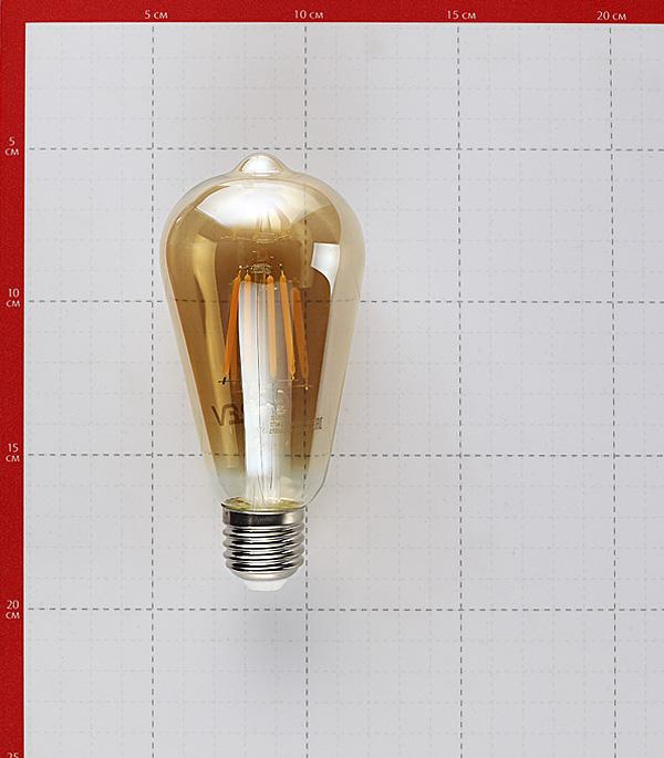 Лампа филаментная REV VINTAGE 5 Вт E27 филаментная колба ST64 2700 К теплый свет 230 В прозрачная фото