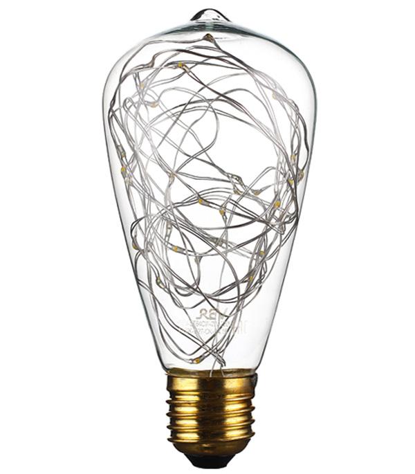 Лампа светодиодная REV VINTAGE декоративная E27 ST64 2 Вт 2700 K теплый свет 1шт 40 вт e26 e27 st64 2300 к дерево лампа накаливания vintage эдисон лампочка 220 240v