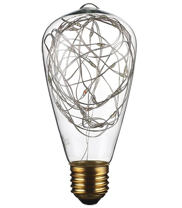 Лампа светодиодная REV VINTAGE декоративная E27 ST64 2 Вт RGB 1шт 40 вт e26 e27 st64 2300 к дерево лампа накаливания vintage эдисон лампочка 220 240v