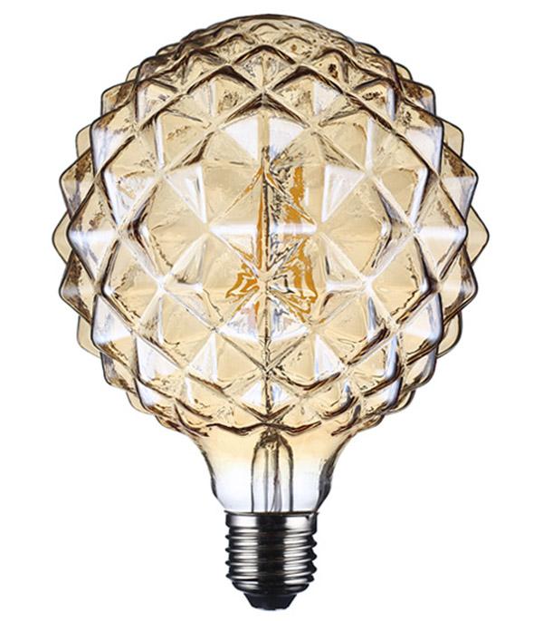 Лампа светодиодная REV VINTAGE 5 Вт E27 филаментная шар G95 2200 К теплый свет 230 В прозрачная лампочка uniel vintage led g95 4w golden e27 теплый свет 4 вт светодиодная