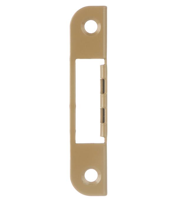 Планка ответная для врезного замка угловая 0068 (фисташка)