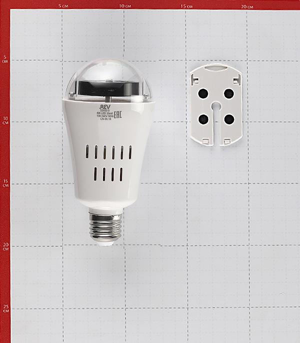 Лампа светодиодная REV Disco 4 Вт E27 груша 230 В прозрачная проекционная 4 сменных модуля RGB фото