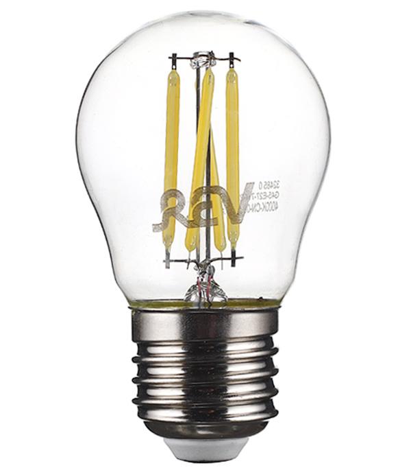 Лампа светодиодная REV 7 Вт E27 филаментная шар G45 4000 К дневной свет 230 В прозрачная