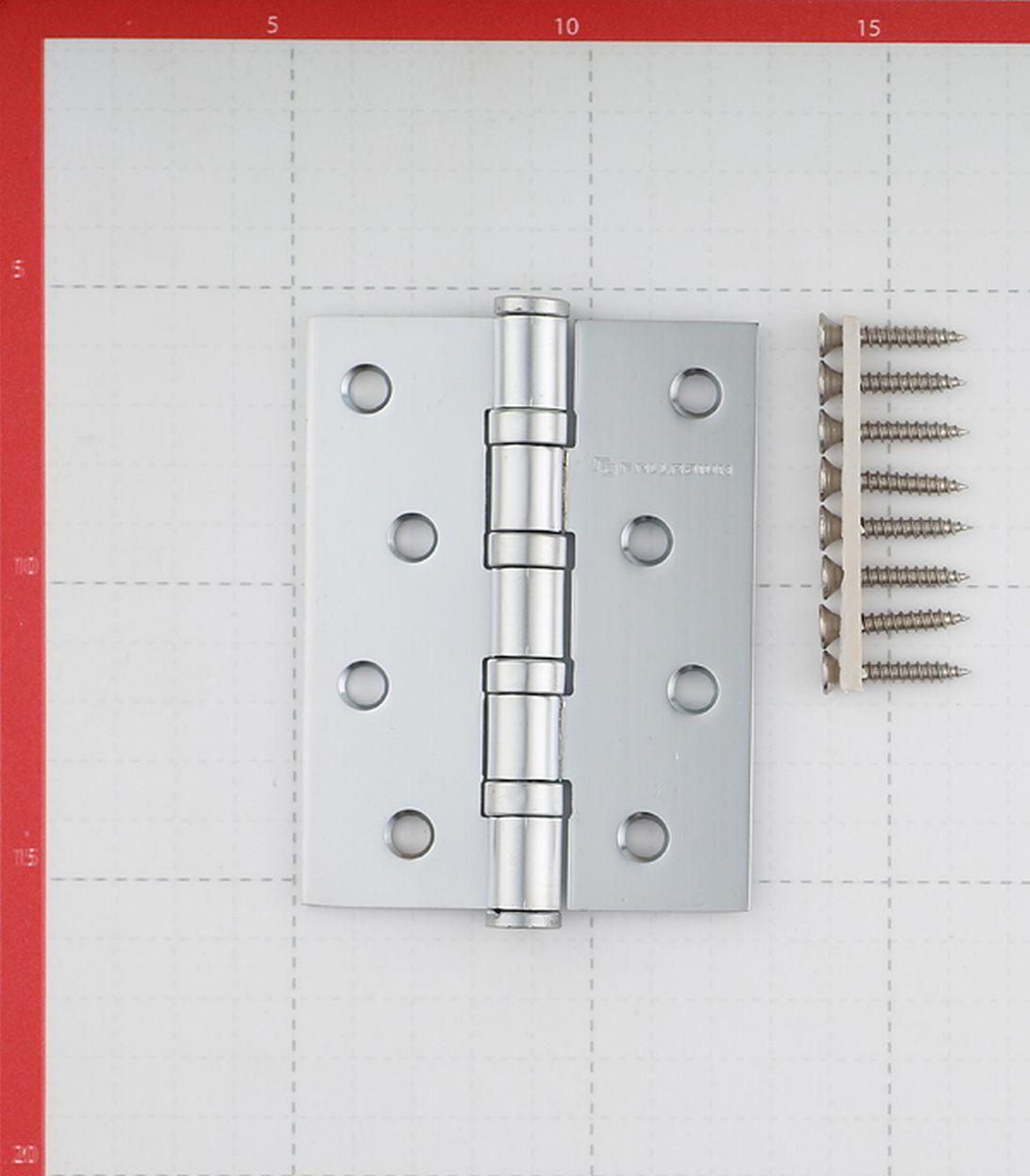Петля Palladium N 4BB-100 PC универсальная неразъемная 100х75 мм серебро