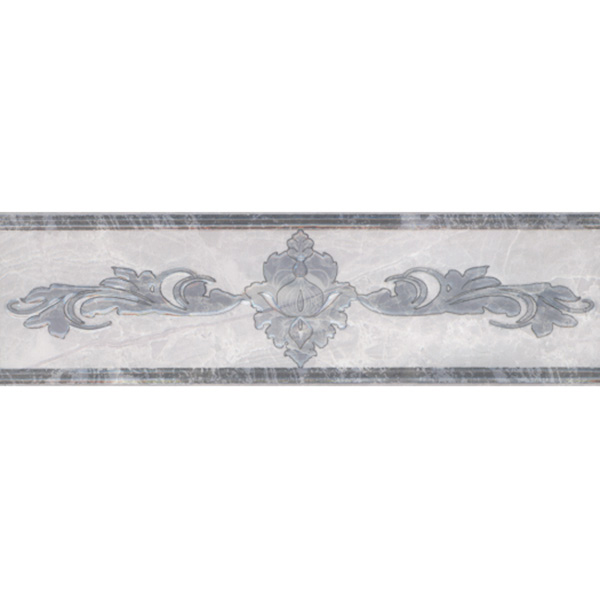 Плитка бордюр Евро-Керамика Дельма серая 270x77x8 мм