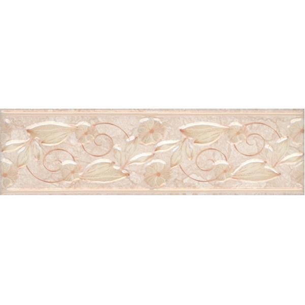 цена на Плитка бордюр Евро-Керамика Тревизо бежевая 200x57x7 мм