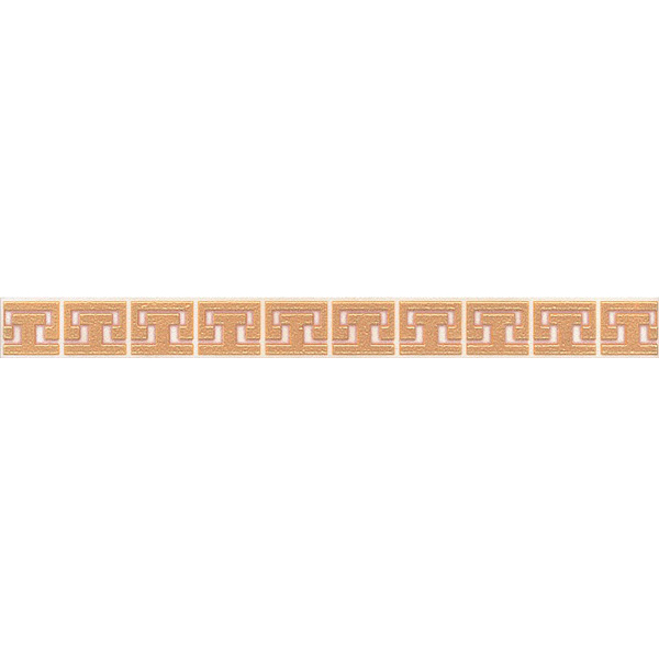 Плитка бордюр KERAMA MARAZZI Сомерсет 250х23х8 мм орнамент бежевый