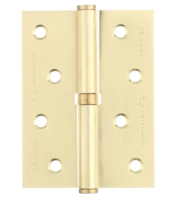 Петля Palladium N 613-S-4 SB левая разъемная 100х75 мм матовая латунь петля пн 1 левая разъемная 130х70 мм 2 шт