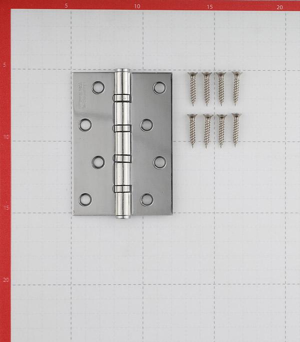 Петля ФЗ Е-100 CP универсальная неразъемная 100х75 мм серебро
