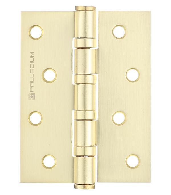 Петля Palladium N 4BB-100 SB универсальная неразъемная 100х75 мм латунь петля дверная palladium 2вв 100 универсальная 2 подшипника цвет античная бронза длина 10 см