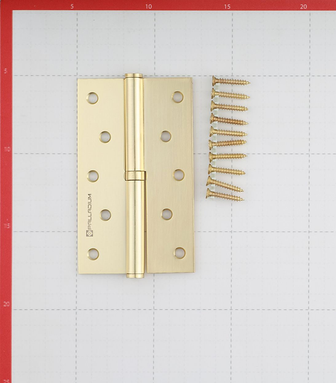 Петля Palladium N 613-S-5 SB правая разъемная 125х75 мм латунь