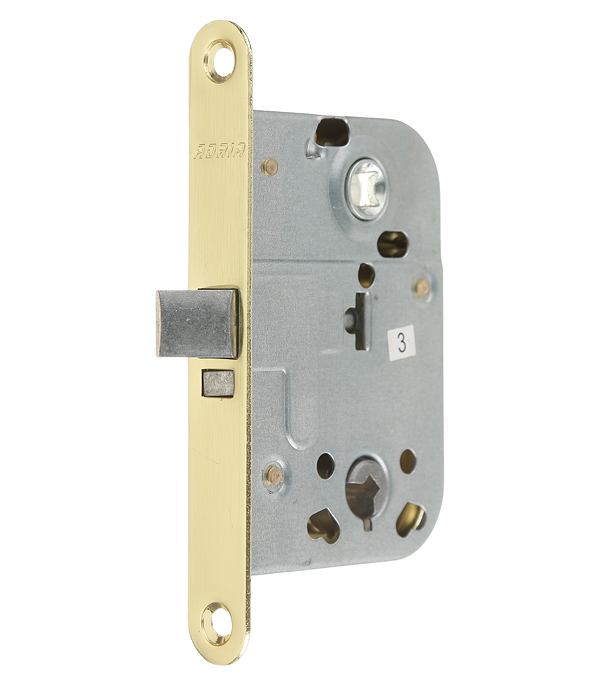 Замок врезной 2014 для межкомнатной двери под завертку (золото) 1 ключ