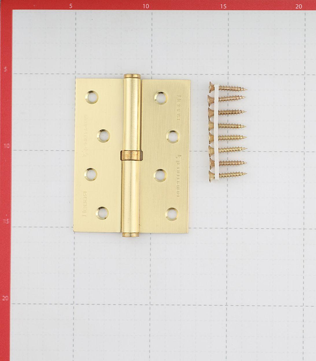 Петля Palladium N 613-S-4 SB левая разъемная 100х75 мм матовая латунь
