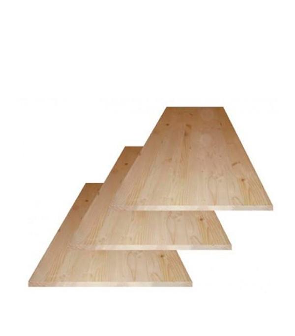 Щит мебельный хвоя 18х600х800 мм сорт АВ клееный