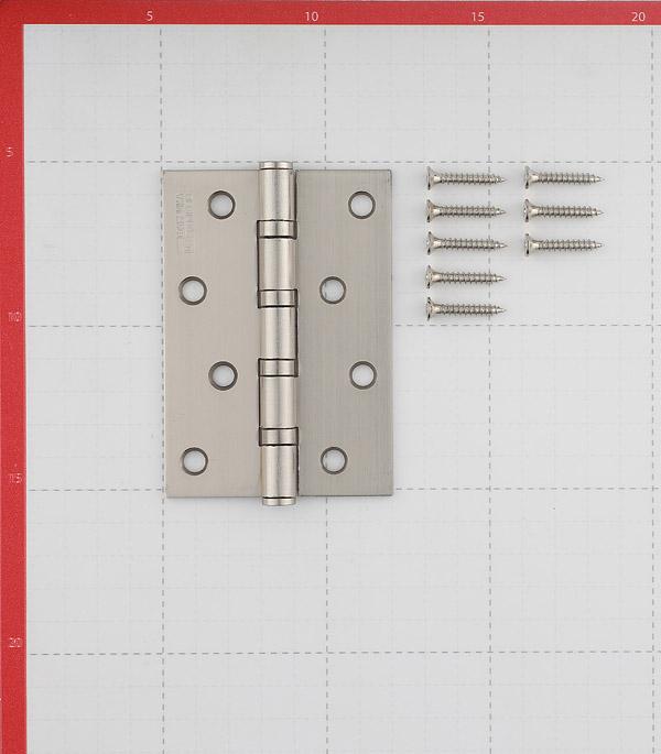 Петля ФЗ Е-100 SN универсальная неразъемная 100х75 мм матовый никель
