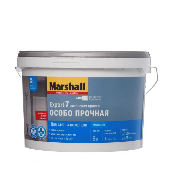 Краска водно-дисперсионная Marshall Export 7 моющаяся основа ВС 9 л цена 2017