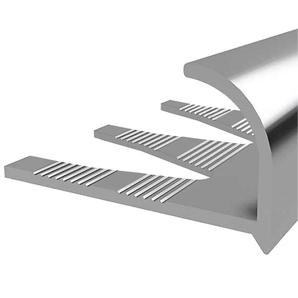 Профиль алюминиевый для кафельной плитки наружный 12х2700 мм серебро универсальный