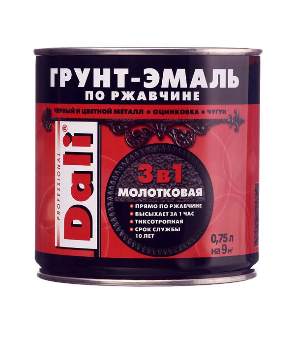 Грунт-эмаль по ржавчине Dali молотковая коричневая 3в1 0,75 л грунт эмаль по ржавчине белая новбытхим 1л