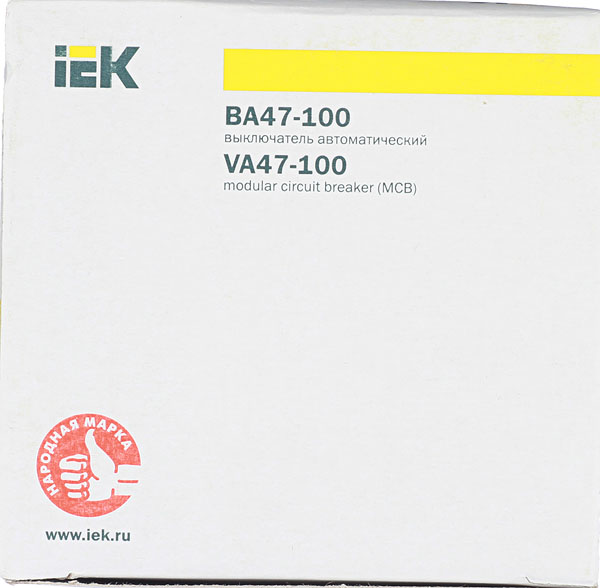 Автомат IEK ВА 47-100 (MVA40-3-100-C) 3P 100 А тип C 10 кА 400 В на DIN-рейку фото